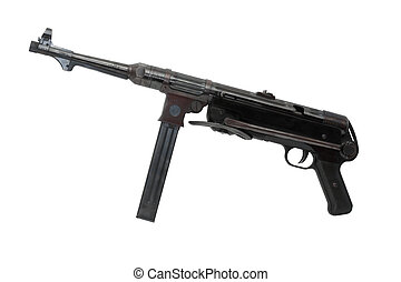Machinegun MP-38 - World War II German machinegun MP-38 on...