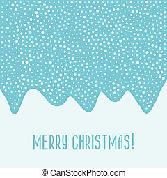Merry Christmas blue card