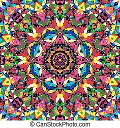 bright seamless kaleidoscope pattern illustration