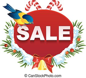 Christmas sale label template Illustration in vector format