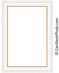 framework - Decorative golden framework illustration picture...