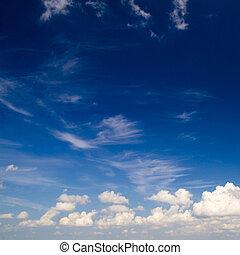 藍色, 背景, 天空