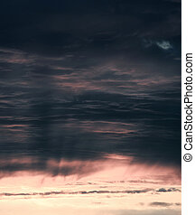 傍晚, 天空, 背景