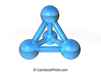 Molecule Structure Blue II - simple bluesteel molecular...