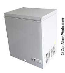 Freezer - Closed freezer isolated on plain background
