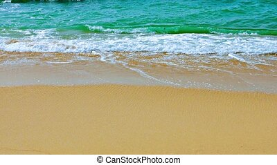 Gentle Waves Washing a Pristine Tropical Beach - Video 1080p...