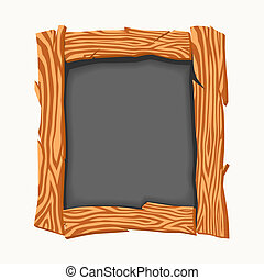 school board. - Wooden school board. illustration image....
