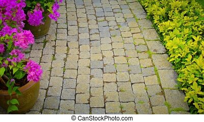 Paving stones path - Video 1080p - The paving stones path