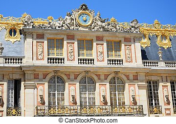 Frontage of grand European palace