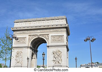 rc De Triomphe in Champs Elysees pa - Arc De Triomphe in...