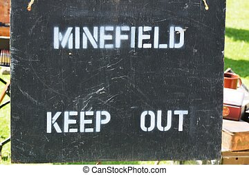 Minefield Sign - Minefield warning sign