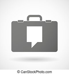 Isolated briefcase icon with a tooltip