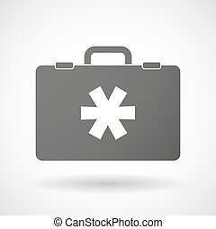 Isolated briefcase icon with an asterisk - Illustration of...
