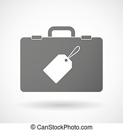 Isolated briefcase icon with a label