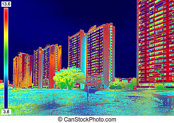 Thermal image on Residential building_11