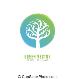 Vector tree logo concept and design element
