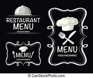 Banner design with restaurant menu
