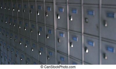 Dozens of Identical Post Office Boxes - Video 1920x1080 -...
