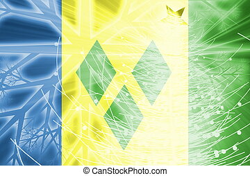 Flag of Saint Vincent and Grenadines christmas holidays -...