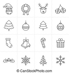Christmas icons set - Simplus series - Christmas icon set...