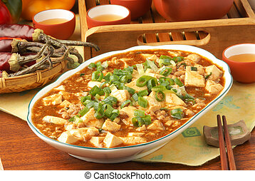 Mapo tofu - Mapo Tofu - A Popular Chinese Spicy Dish from...