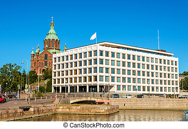 View of embankment in Helsinki - Finland