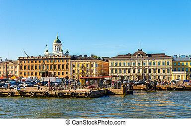 Berth of ferries in Helsinki - Finland