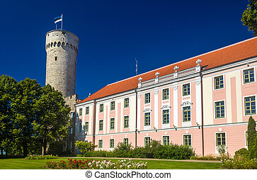 View of Toompea Castle in Tallinn - Estonia