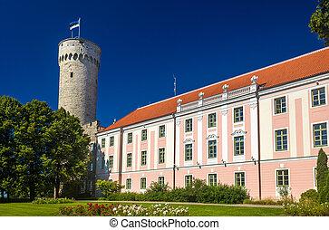 View of Toompea Castle in Tallinn - Estonia