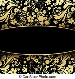Precious black and gold background