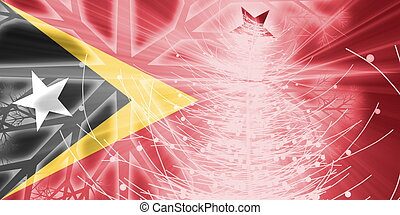 Flag of Timor-Leste christmas holidays - Flag of...