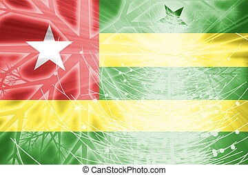Flag of Togo christmas holidays - Flag of Togo, national...
