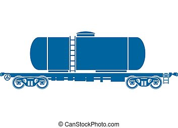 Tank Railway freight car - Vector illustration - Tank...