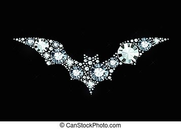 Diamond Bat - Bat Made of Shiny Diamonds