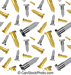 seamless goldish - silver screw pattern extended