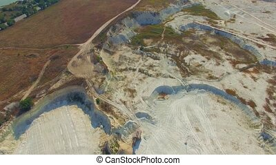 AERIAL VIEW Over Big Quarry In Bakhchisarai, Crimea - AERIAL...