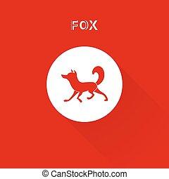 Redfox - Fox Logo for corporate identity. Vector silhouette...