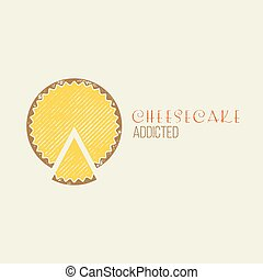 Cheesecake Addicted T-Shirt Vector Design - Vintage Retro...