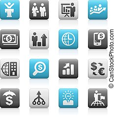 Business and Finance - Matte Series - icons for your web,...