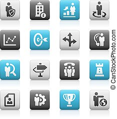 Business Strategies -- Matte Series - icons for your web,...