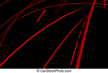 Abstract Light Trails - An abstract globe surrounded by...