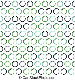 Blue and Green Watter Bubble Pattern on White Background -...