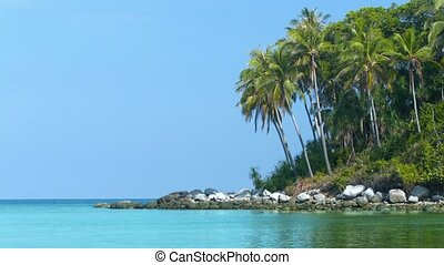 Beautiful, Rocky, Wild, Tropical Beach in Southern Thailand...