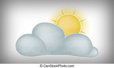 Sun behind the clouds - Illustration of the sun behind the...