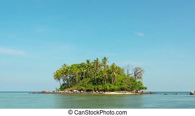 Tracking Shot of a Tiny Tropical Island in Southern Thailand...