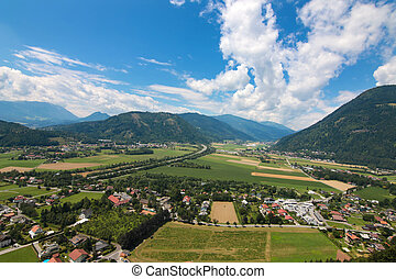 Carinthia during Summer in Austria - Landscape view of...