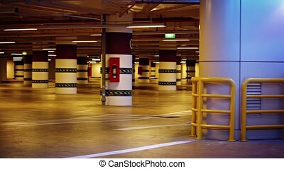 Columns and numeric section identifiers of an underground...