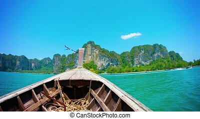 Cruising to a Tropical Island on a Handmade Wooden Boat -...