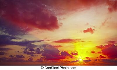 Dramatic Sunset in Timelapse with Rapidly Shifting Colors -...