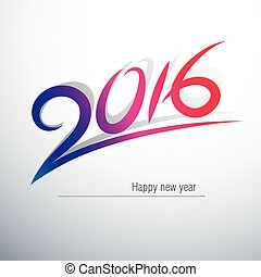 2016 - Happy new year 2016 Text Design,vector illustration